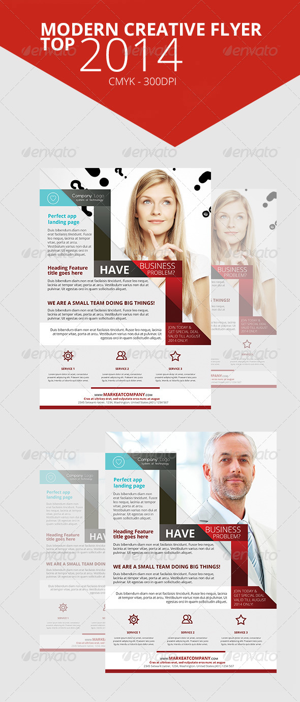 GraphicRiver Modern Creative Flyer Top 7 7700456