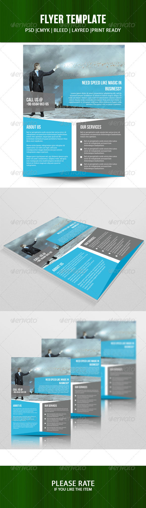 GraphicRiver Corporate Flyer Template 7700458