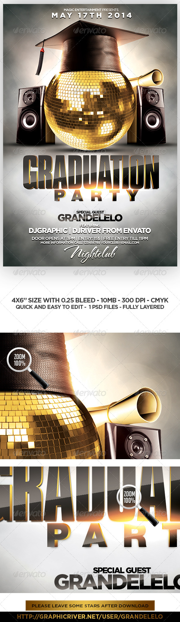 GraphicRiver Graduation Party Flyer Template 7700550