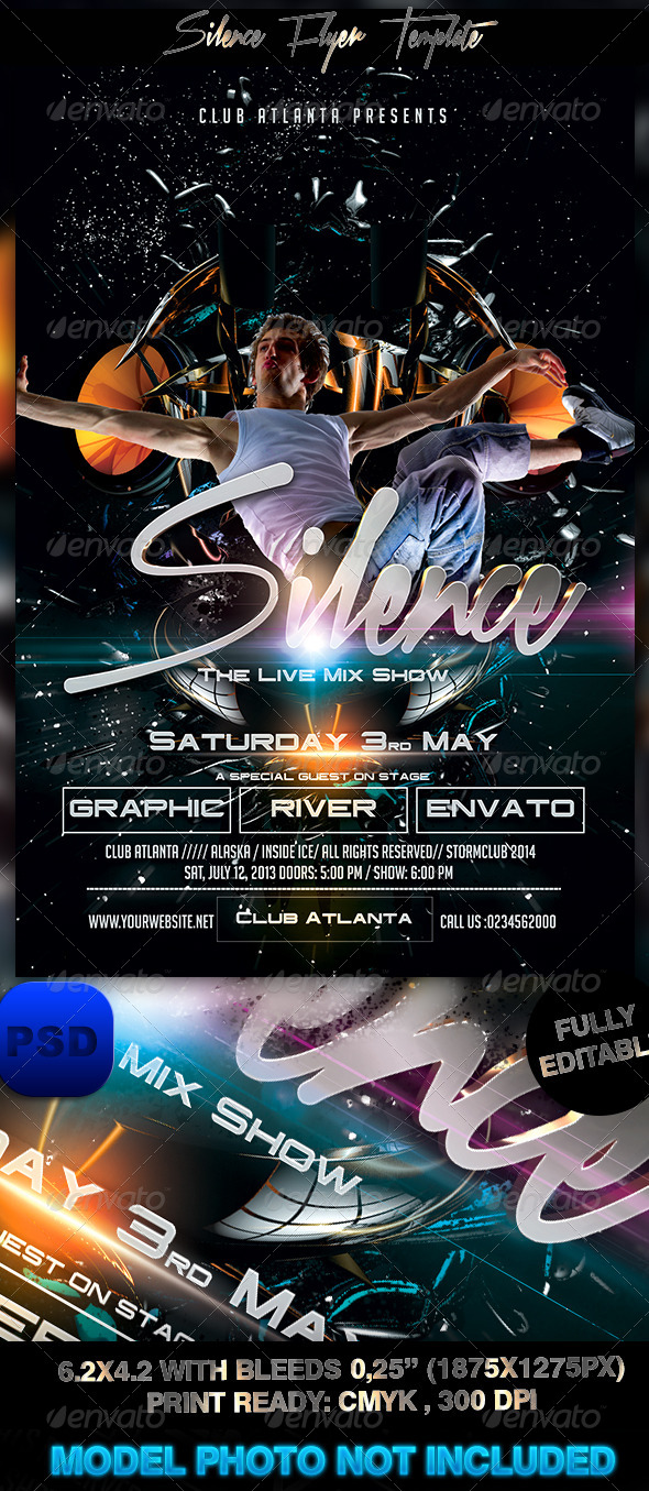 GraphicRiver Silence Flyer Template 7700942