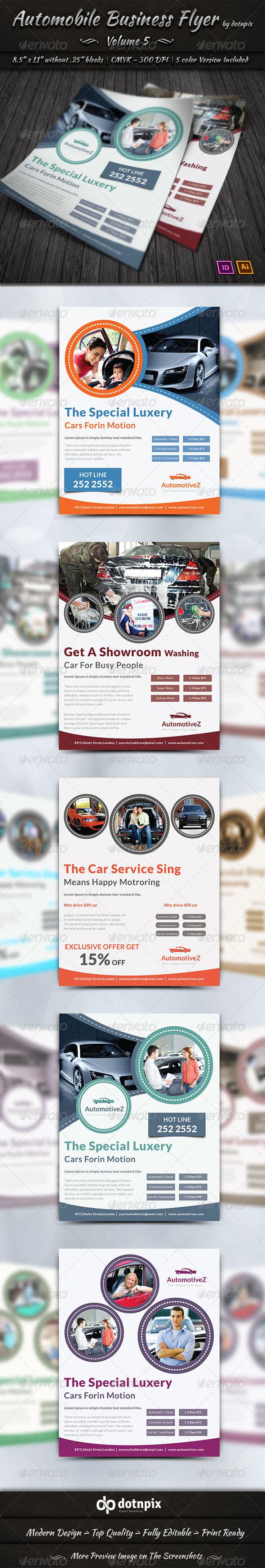 GraphicRiver Automobile Business Flyer Volume 5 7700956