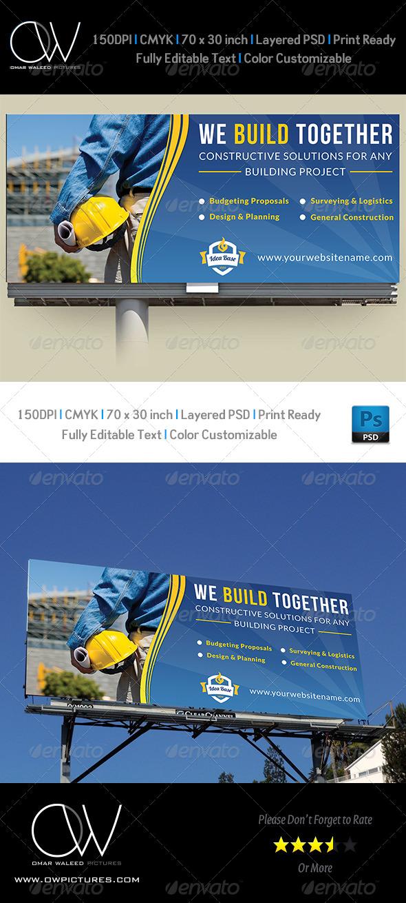 GraphicRiver Construction Company Billboard Template Vol.2 7706686