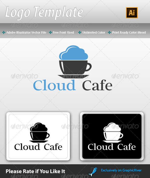 GraphicRiver Cloud Cafe Logo Template 7706806