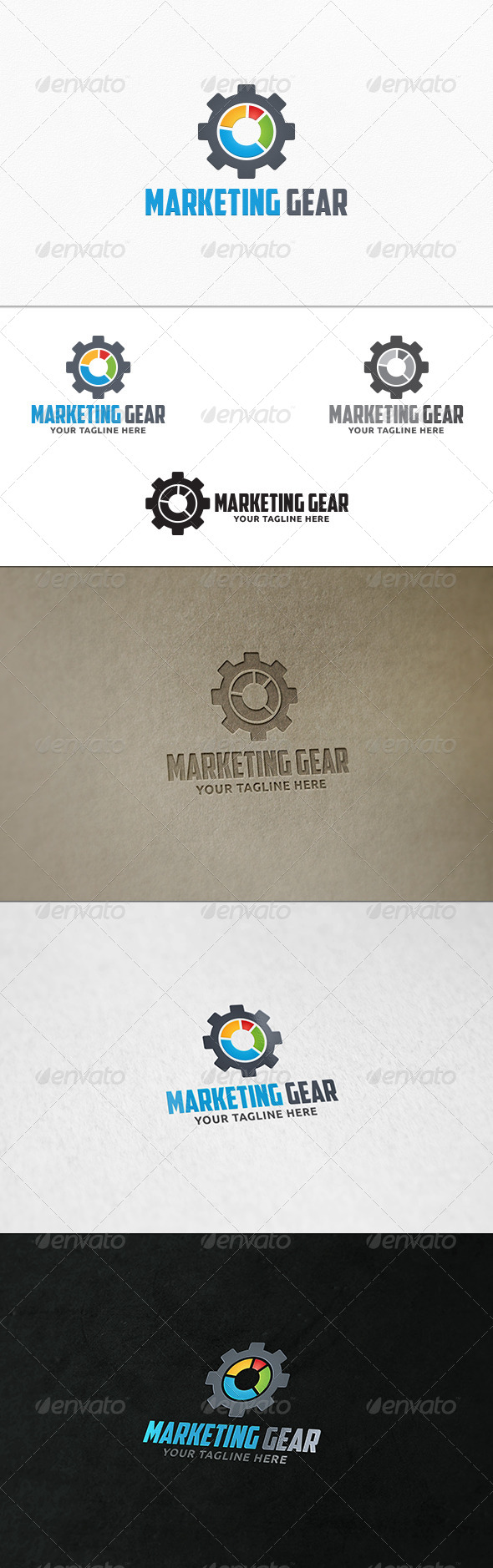 GraphicRiver Marketing Gear Logo Template 7706958