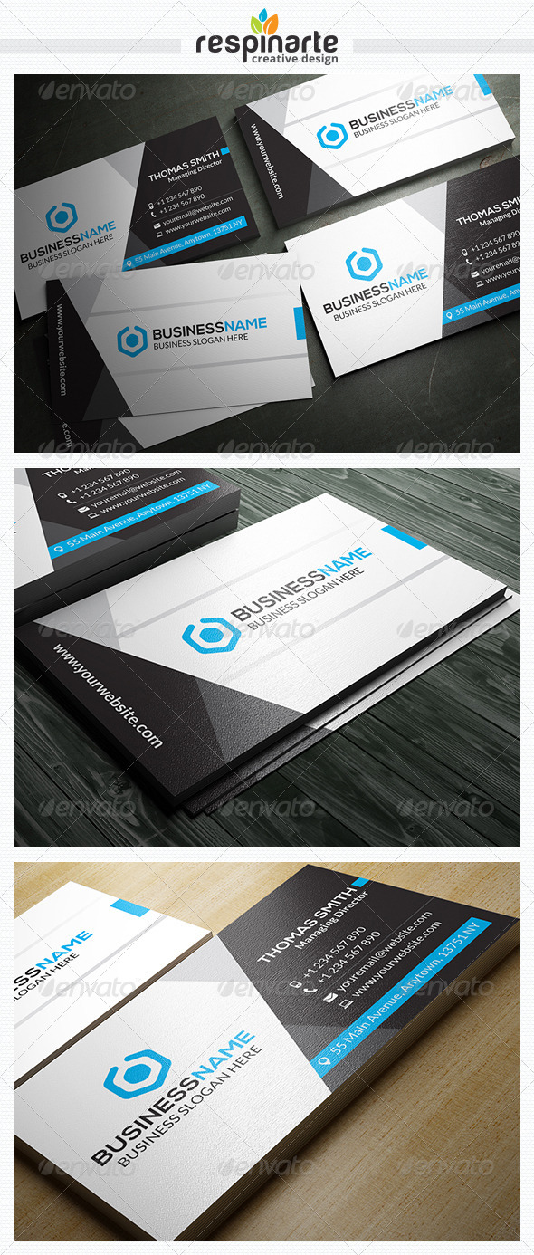 GraphicRiver Corporate Business Card RA18 7707716