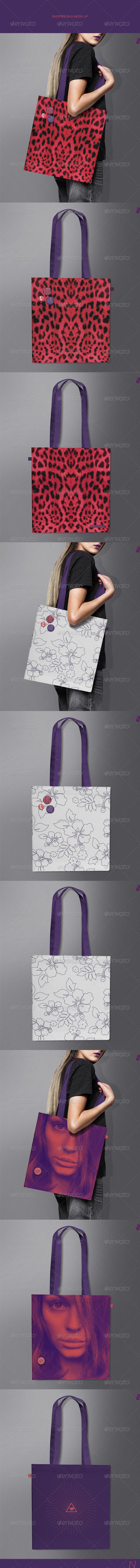 GraphicRiver Shopper Bag Mock-up 7708193