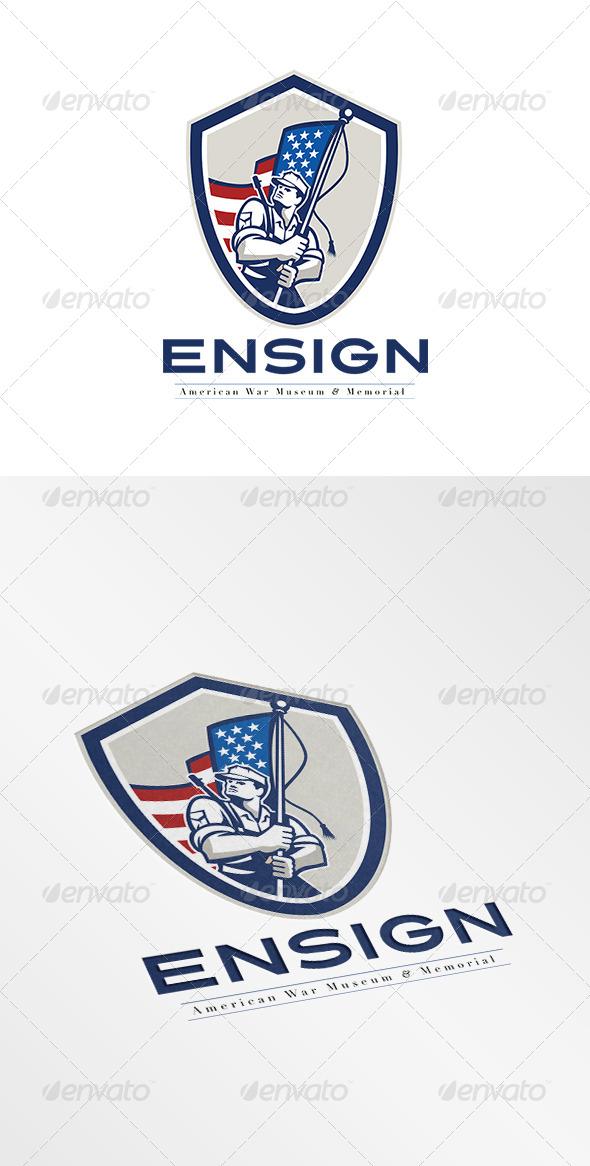 GraphicRiver Ensign War Memorial and Museum Logo 7708460