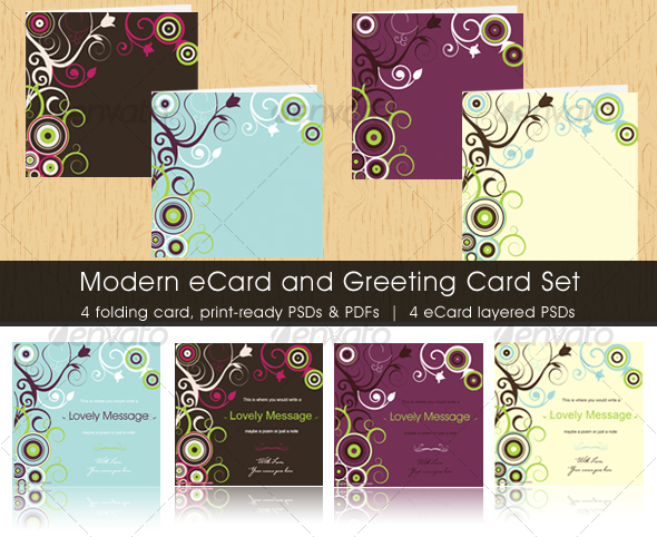 GraphicRiver Modern eCard and Greeting Card Set 31630
