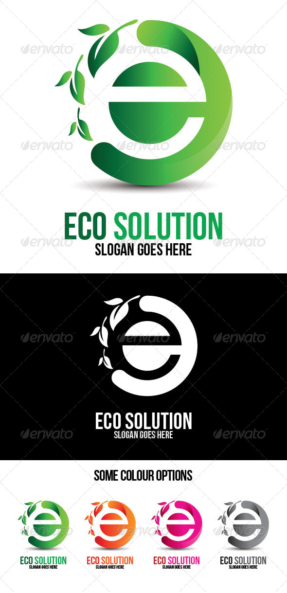 GraphicRiver Eco Solution Technologies Logo Template 7714999