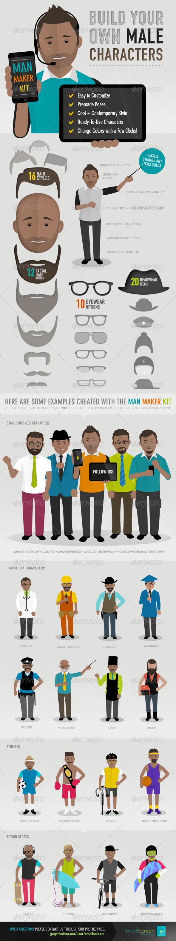 GraphicRiver Man Maker Kit 7705730