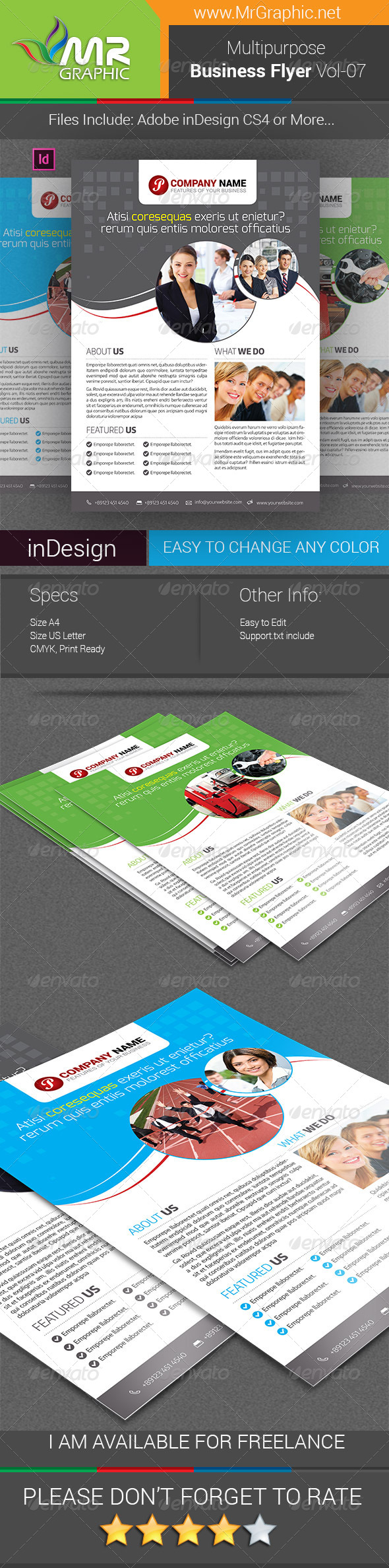 GraphicRiver Multipurpose Business Flyer Vol-07 7717978