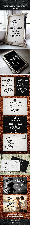 GraphicRiver Save The Date Postcard Templates Vol.1 7718675