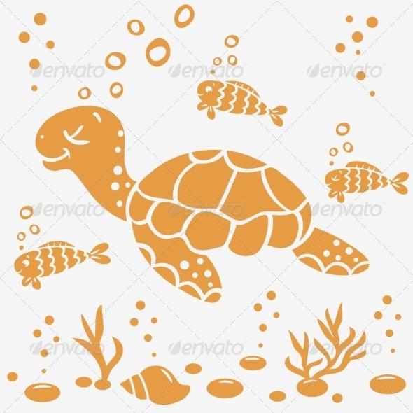 GraphicRiver Turtle Silhouette 7720794