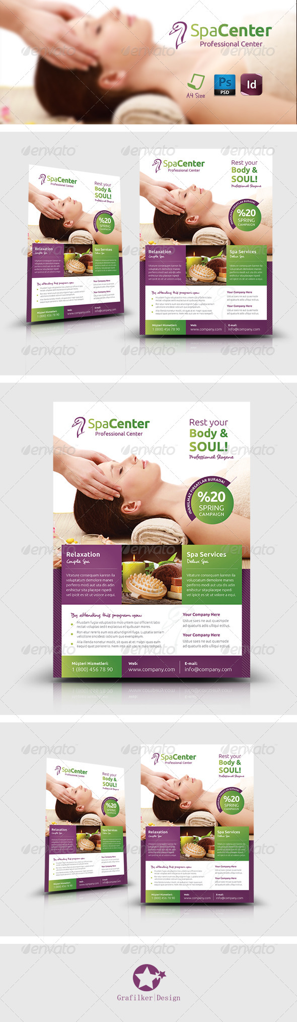 GraphicRiver Spa House Flyer Templates 7720862