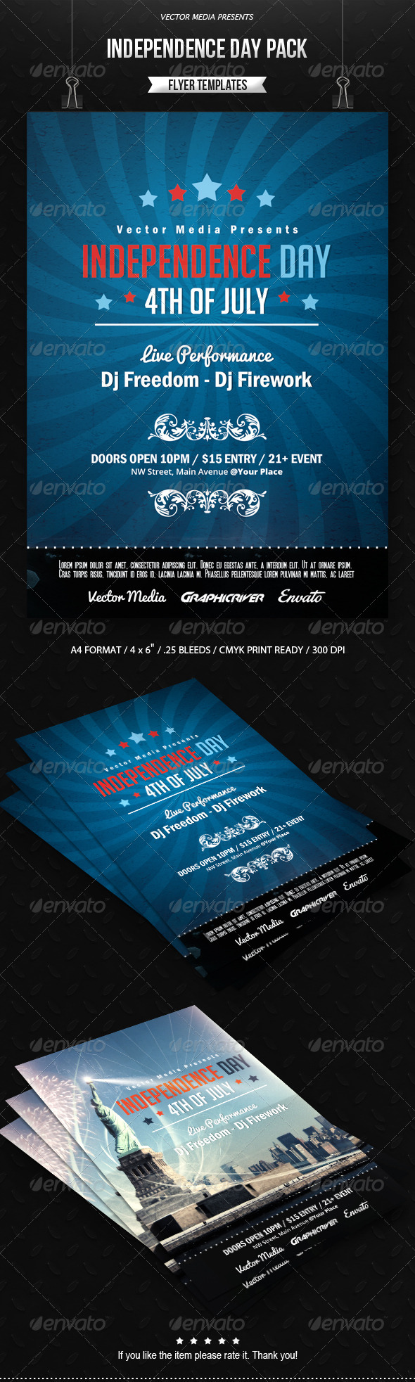 GraphicRiver Independence Day Flyers Pack 7720932