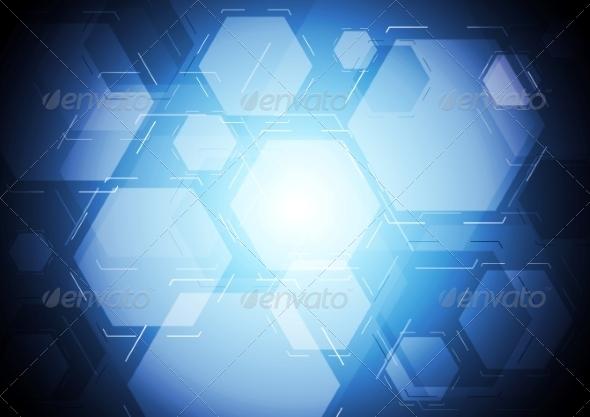 GraphicRiver Dark Blue Tech Backdrop 7721074
