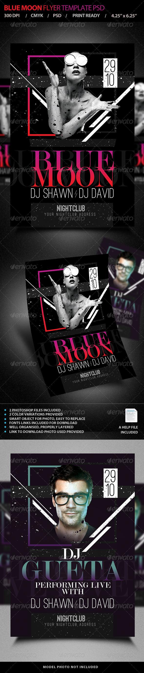 GraphicRiver Blue Moon Live DJ Flyer Template PSD V4 7721136