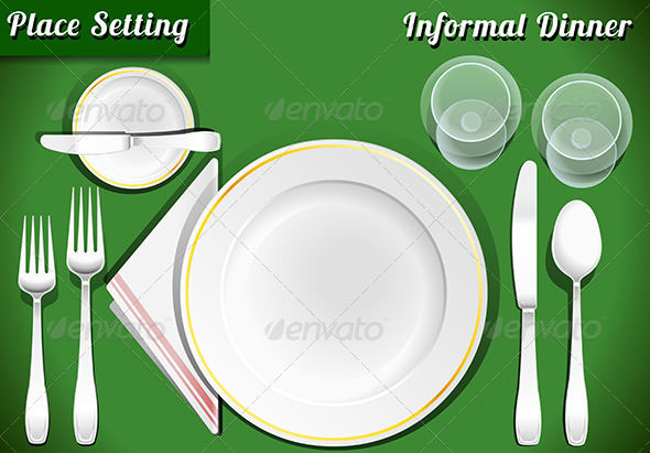 GraphicRiver Place Setting Informal Dinner 7721171