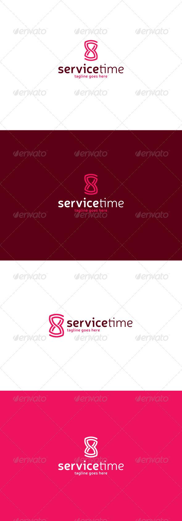 GraphicRiver Service Time Logo 7721356