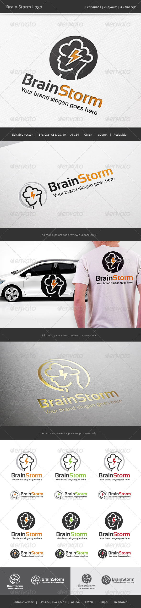 GraphicRiver Brain Storm Logo 7721660