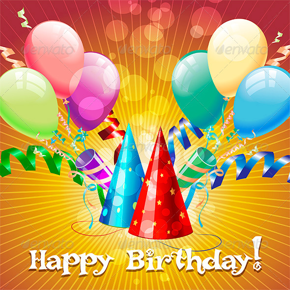 GraphicRiver Greeting Card with Balloons 7722064