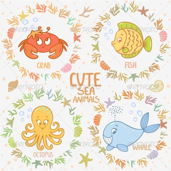 GraphicRiver Sea Animals 7722137