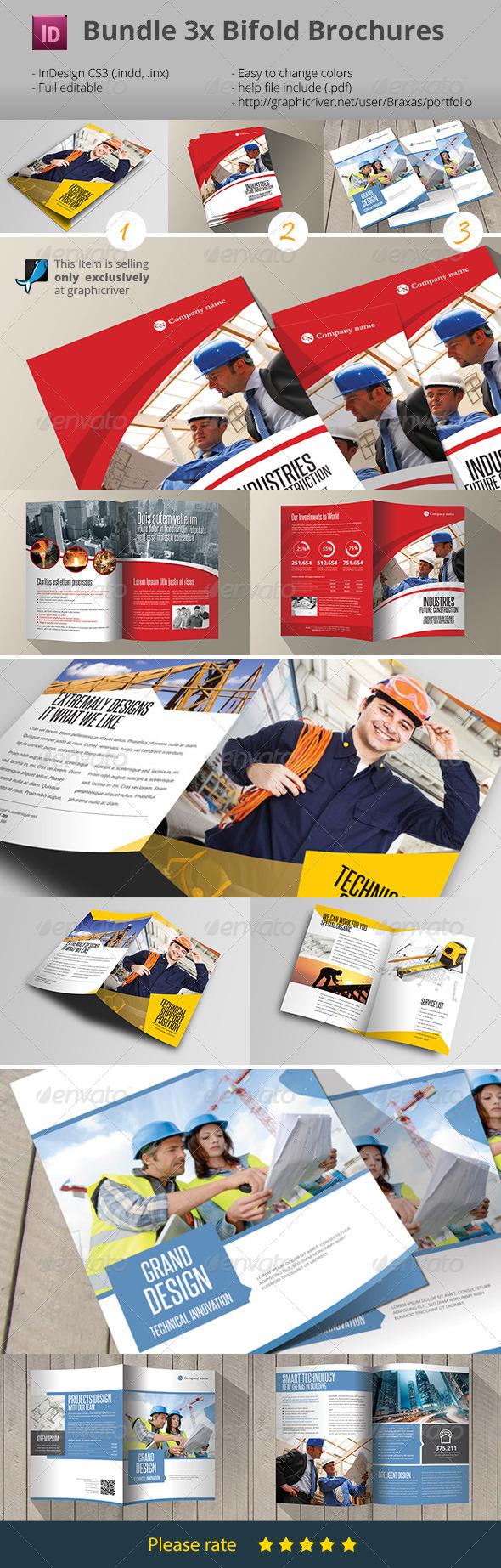 GraphicRiver 3x Brochure Bifold Bundle 7722581