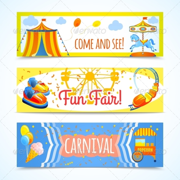 GraphicRiver Carnival Banners Horizontal 7734186
