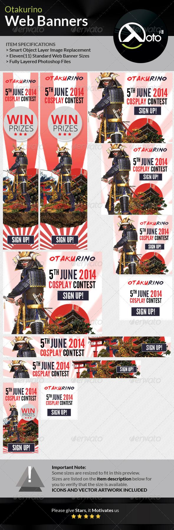 GraphicRiver Otakurino International Cosplay Contest Web Banner 7735013