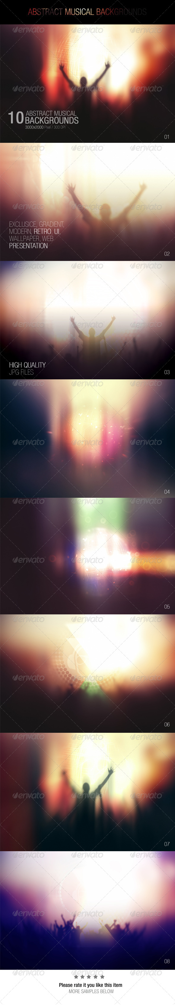 GraphicRiver Abstract Musical Backgrounds 7738047