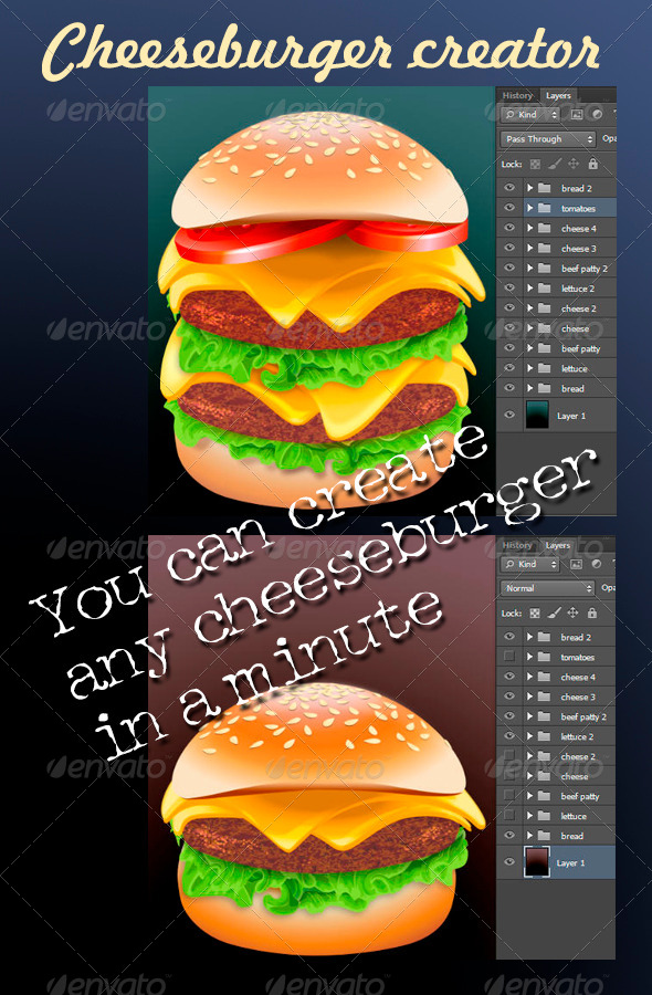 GraphicRiver Cheeseburger Creator 7739258