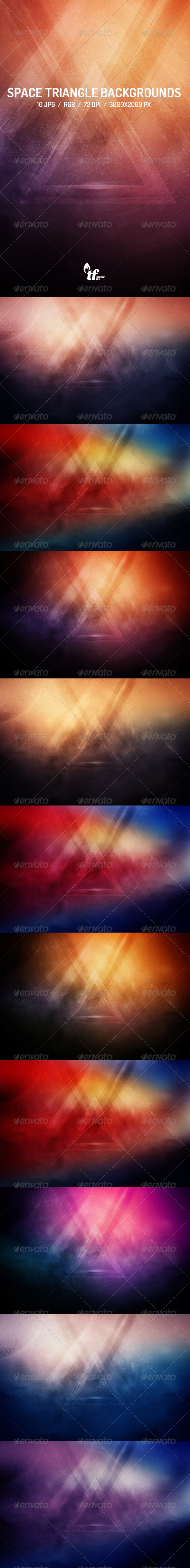 GraphicRiver Space Triangle Backgrounds 7740567