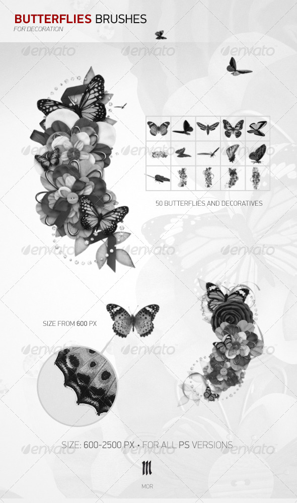 GraphicRiver Butterflies Brushes 7740607