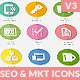Flat SEO & Marketing Icons Pack 4
