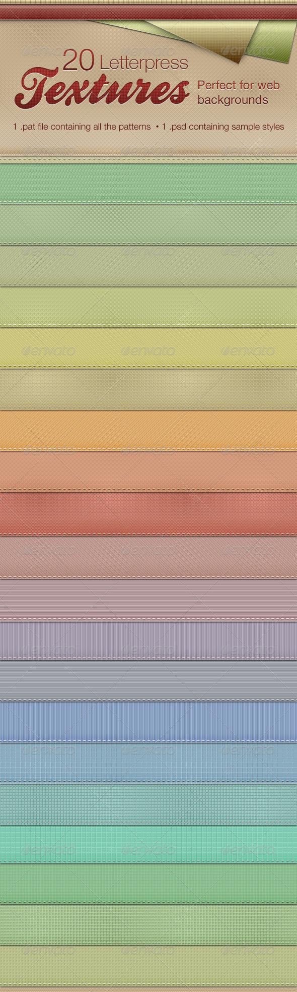 GraphicRiver Letterpress Texture Patterns 791441