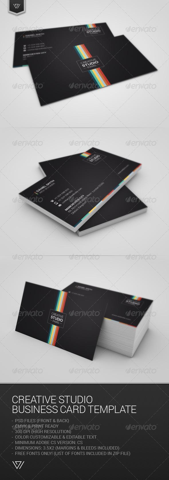 GraphicRiver Creative Studio Business Card 7721973