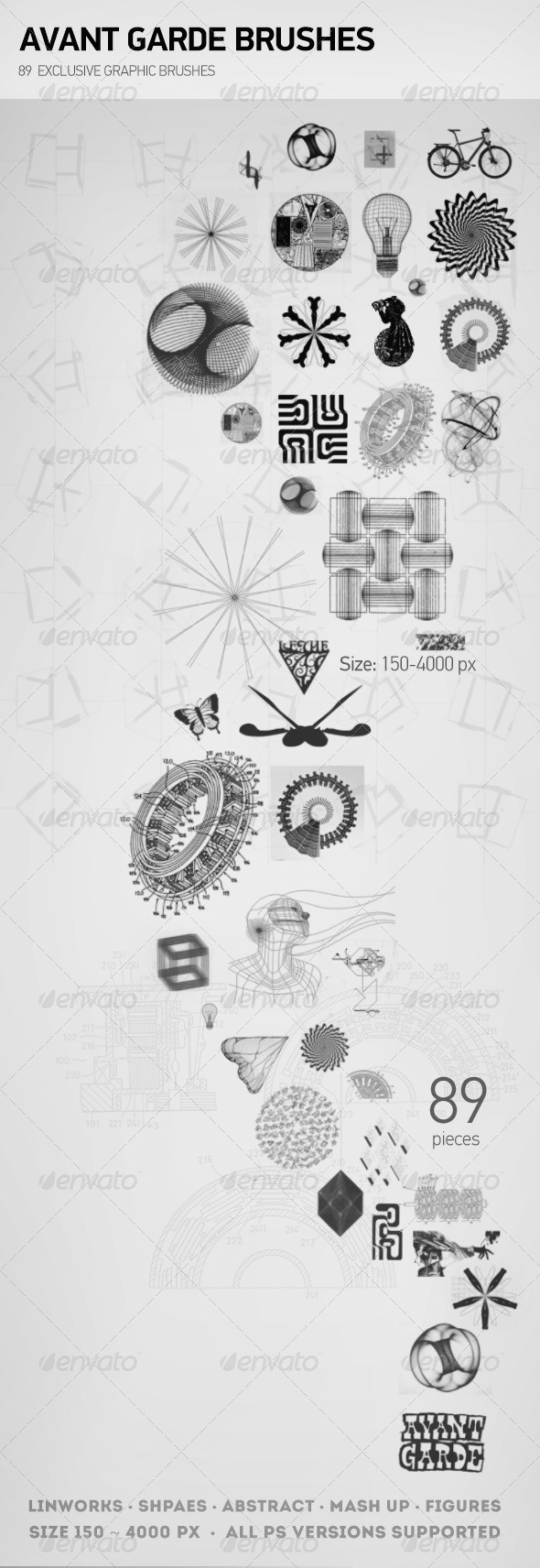 GraphicRiver Avant Garde Brushes 7671863