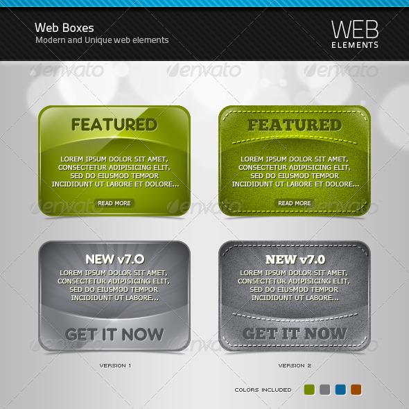 GraphicRiver Web Boxes 350255