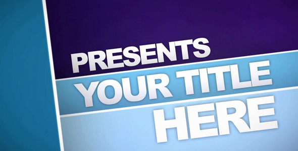 After Effects Project - VideoHive Blue Layered Title 67210