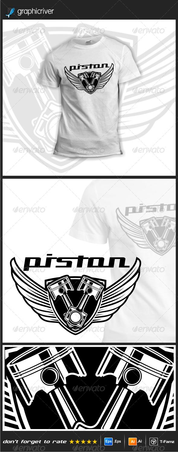 GraphicRiver Piston T-Shirts 7761832