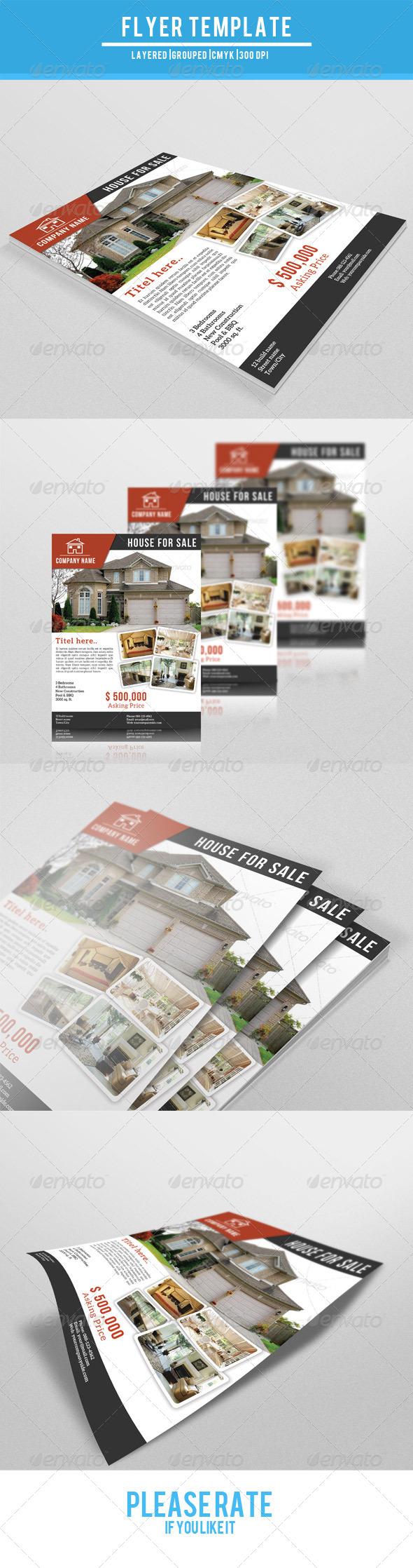 GraphicRiver Real Estate Flyer-V08 7764213