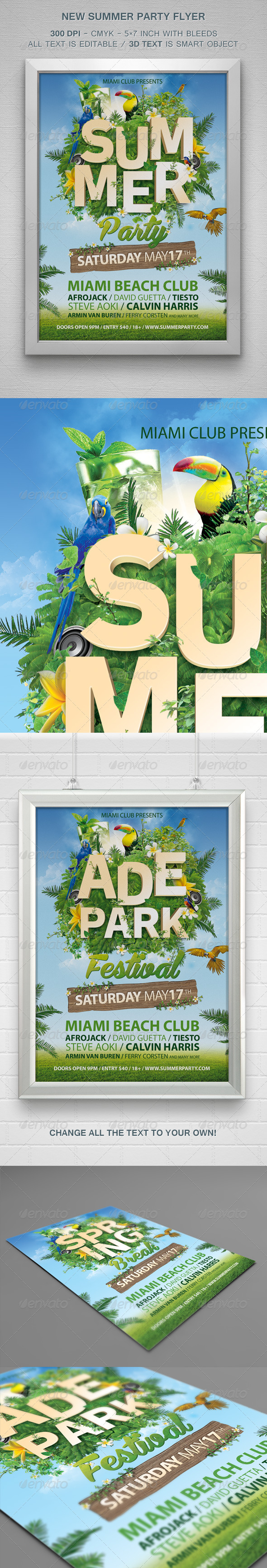 GraphicRiver New Summer Party Flyer 7766155