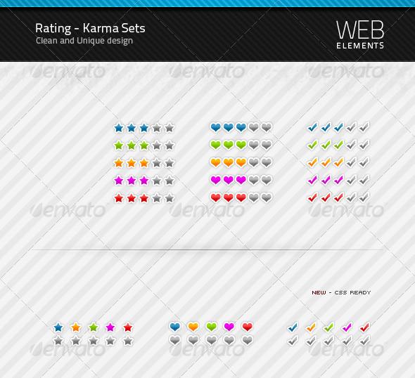 GraphicRiver Rating Karma sets 90367