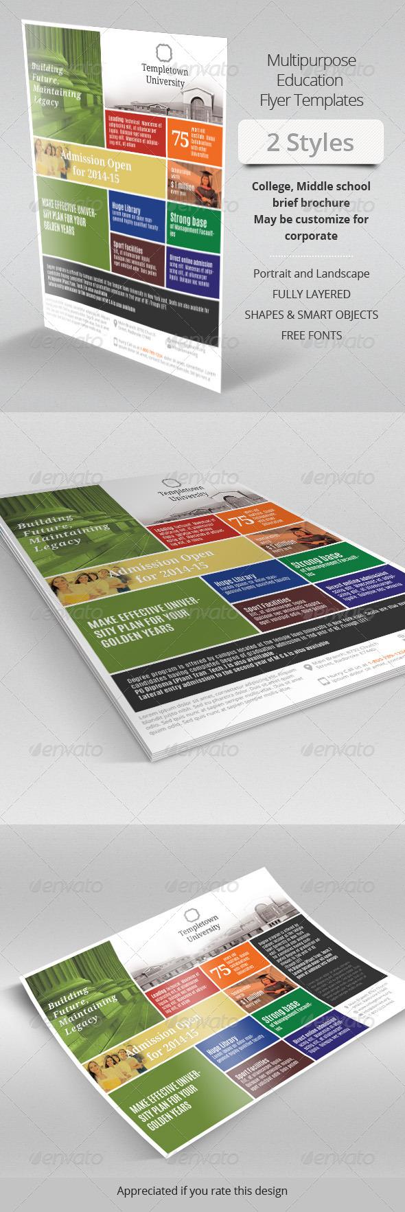GraphicRiver Multipurpose Education Flyer 7767695