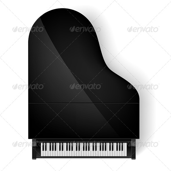 GraphicRiver Piano in Top View 7772351