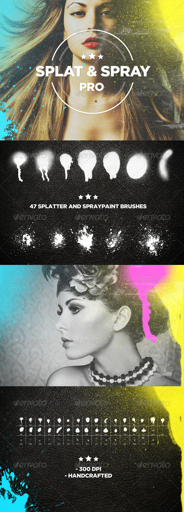 GraphicRiver Splat & Spray Pro Brushes 7776609
