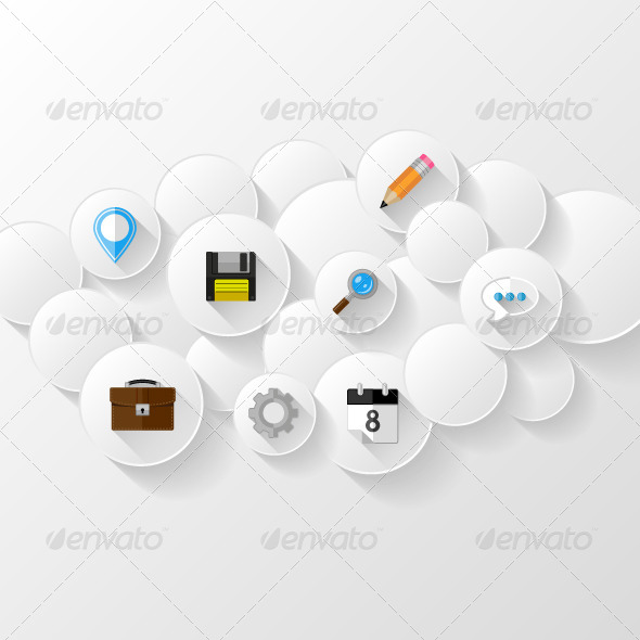 GraphicRiver Cloud Storage Concept 7777428