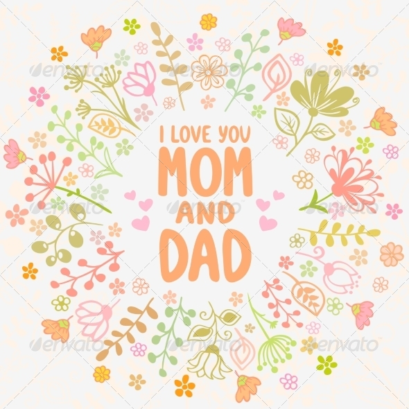 GraphicRiver Card Mom and Dad 7778522