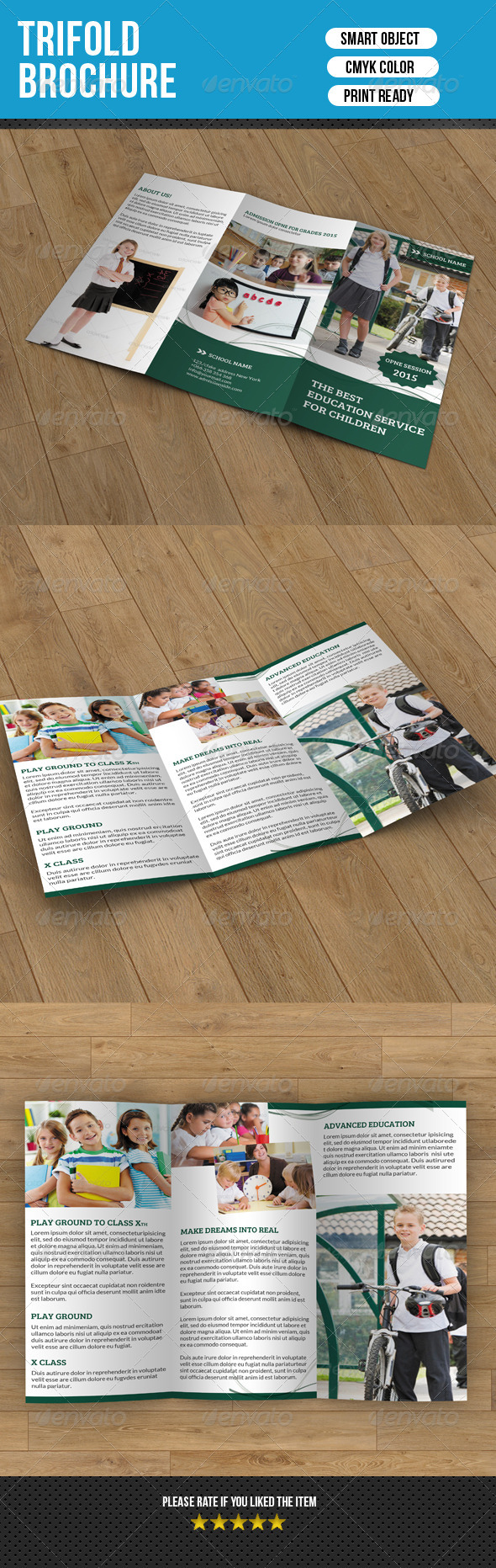 GraphicRiver Kids School Trifold Brochure-V05 7778809