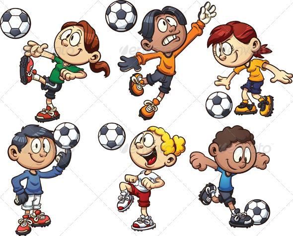 Kids Soccer Cartoon » Tinkytyler.org - Stock Photos & Graphics
